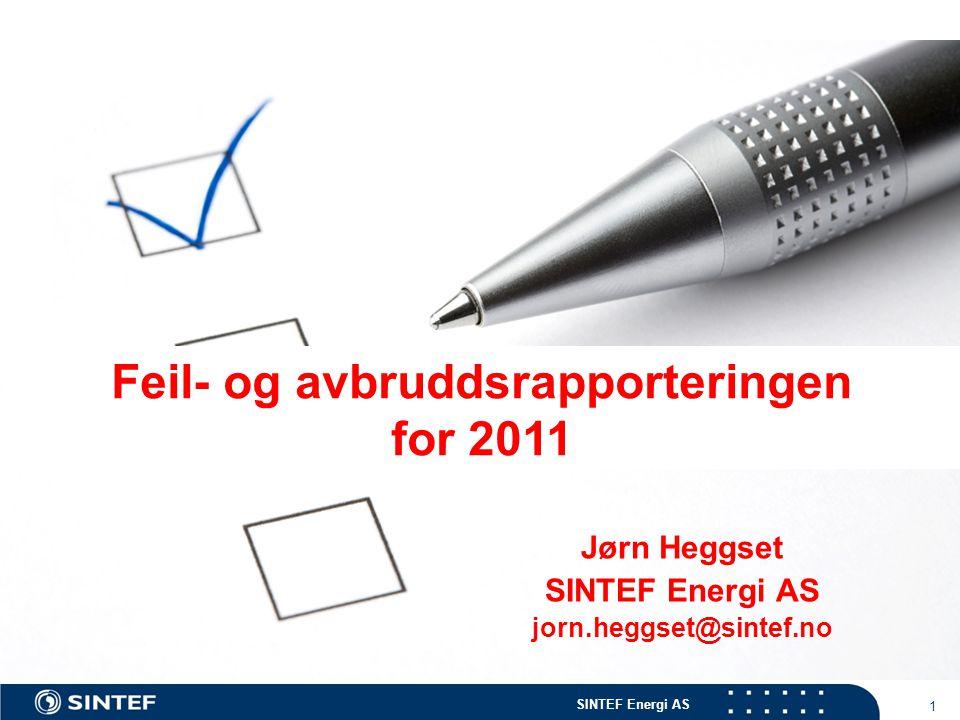 Jørn Heggset SINTEF Energi AS jorn.heggset@sintef.no