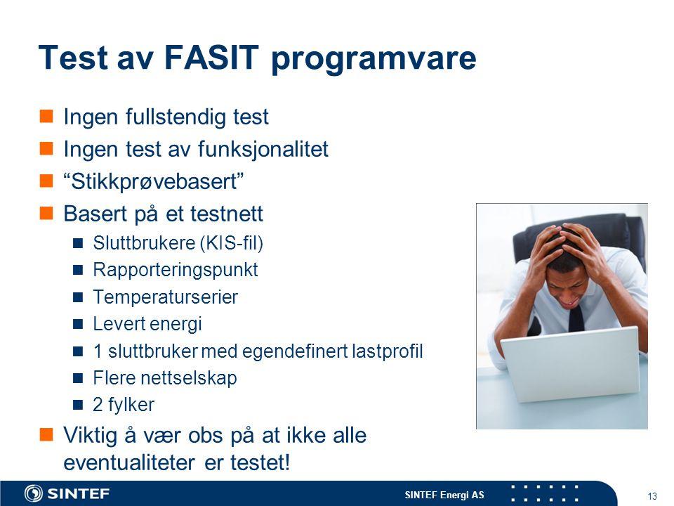 Test av FASIT programvare