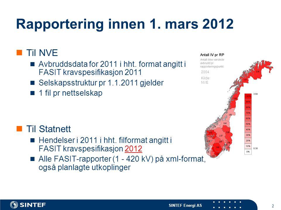Rapportering innen 1. mars 2012