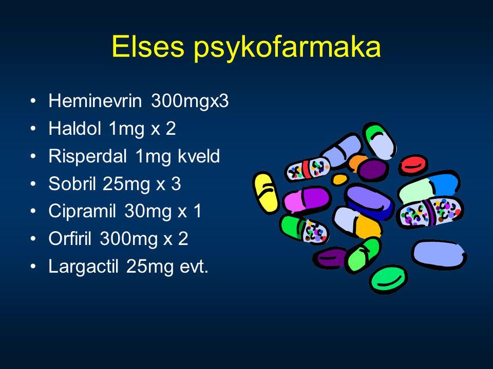 Elses psykofarmaka Heminevrin 300mgx3 Haldol 1mg x 2