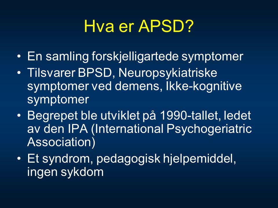 Hva er APSD En samling forskjelligartede symptomer