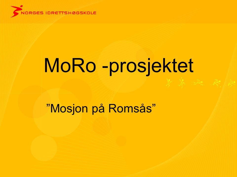 MoRo -prosjektet Mosjon på Romsås