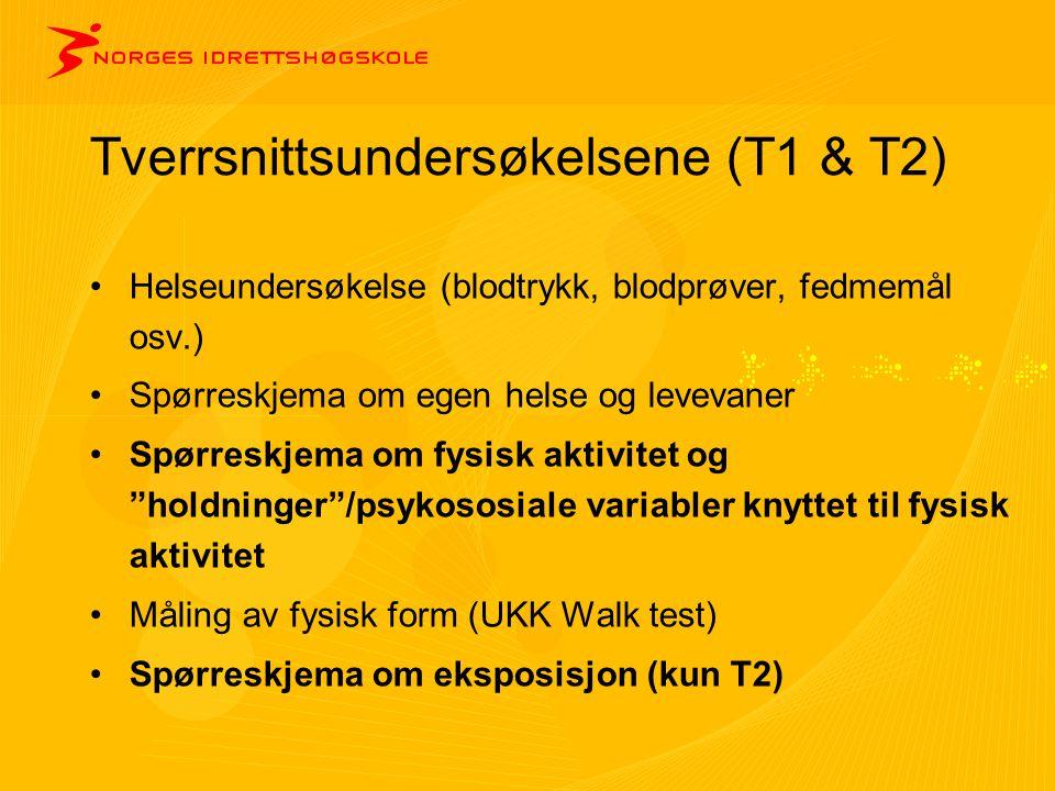 Tverrsnittsundersøkelsene (T1 & T2)