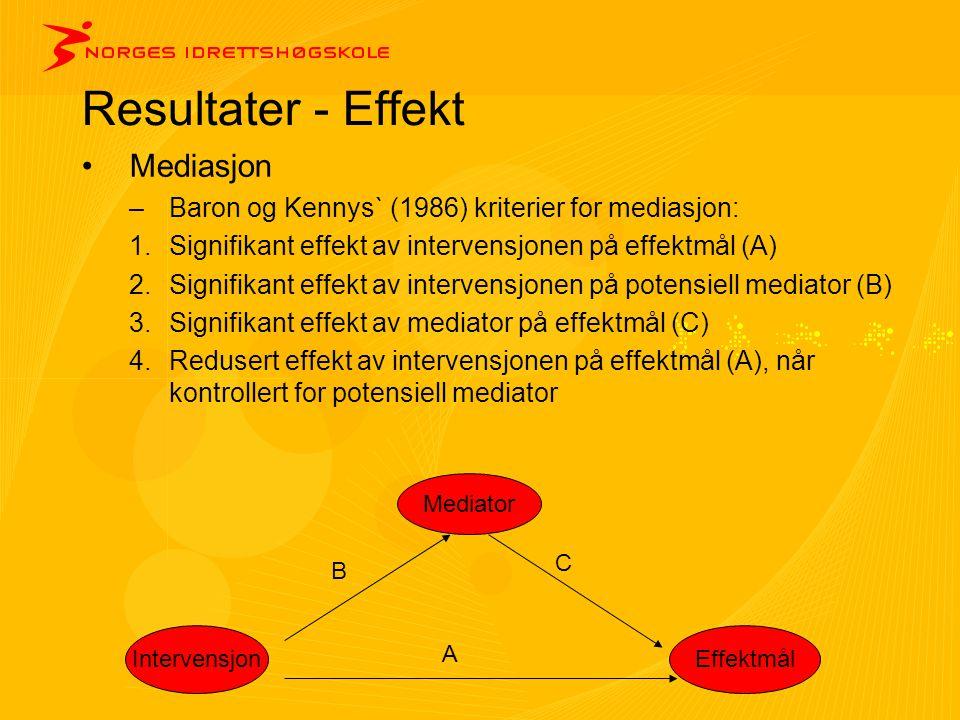 Resultater - Effekt Mediasjon