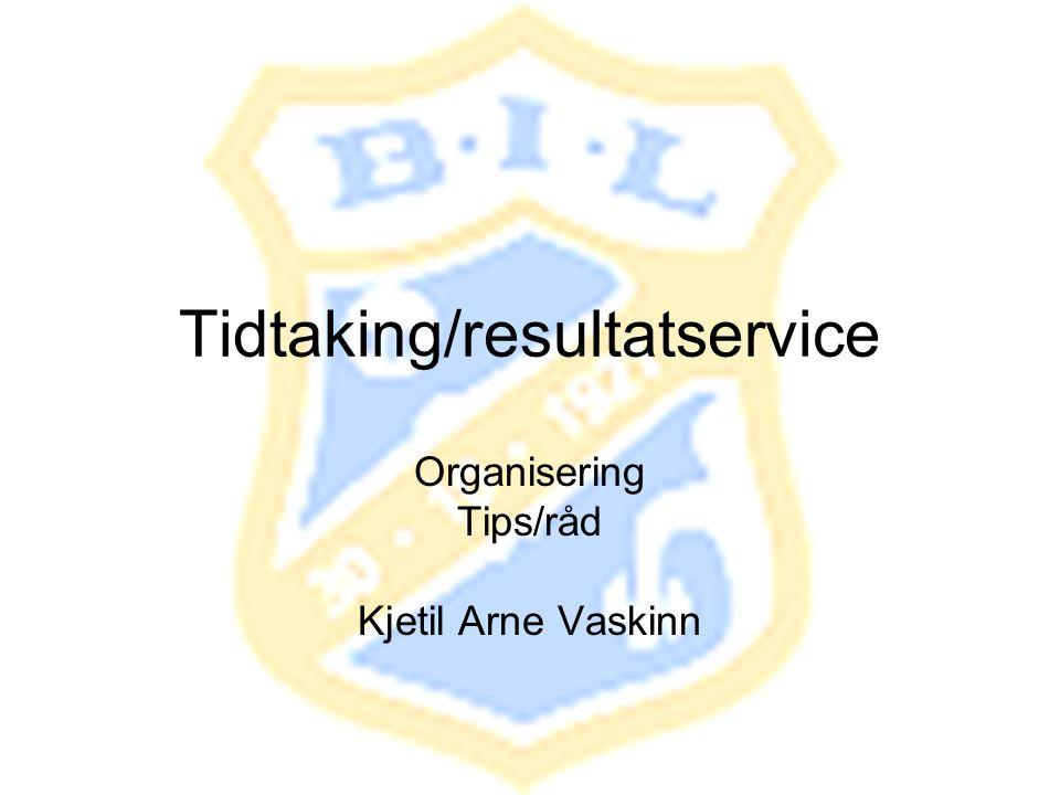 Tidtaking/resultatservice