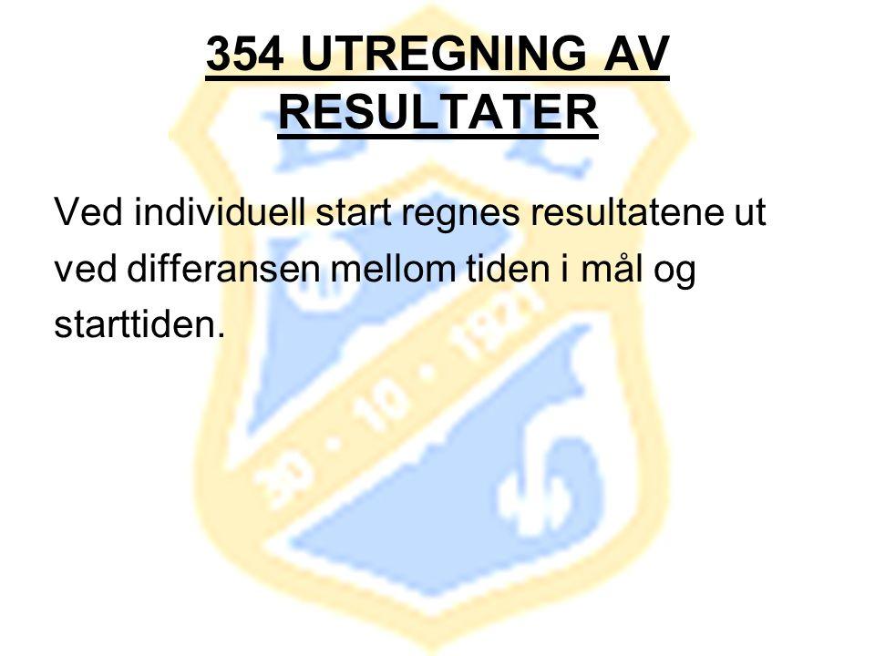 354 UTREGNING AV RESULTATER