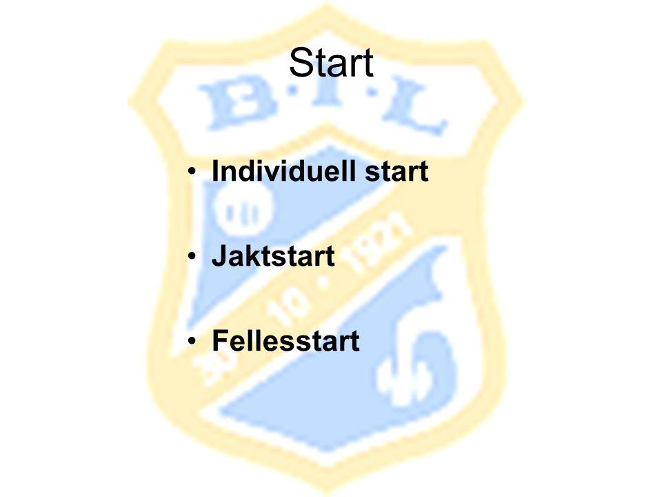 Start Individuell start Jaktstart Fellesstart