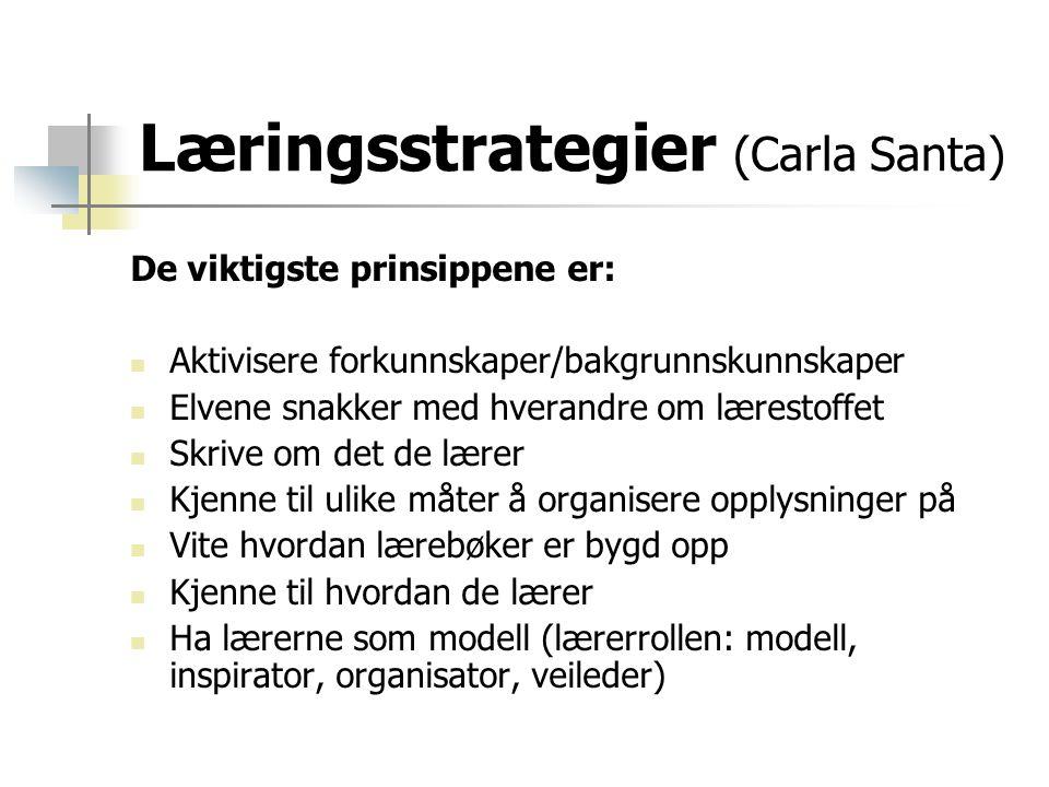 Læringsstrategier (Carla Santa)