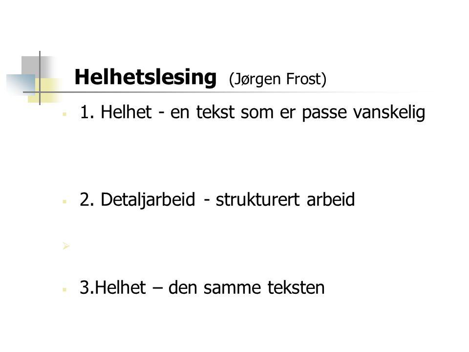 Helhetslesing (Jørgen Frost)