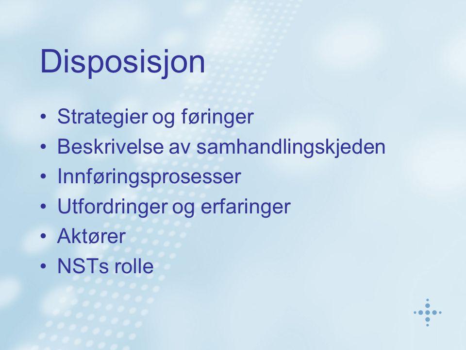 Disposisjon Strategier og føringer Beskrivelse av samhandlingskjeden