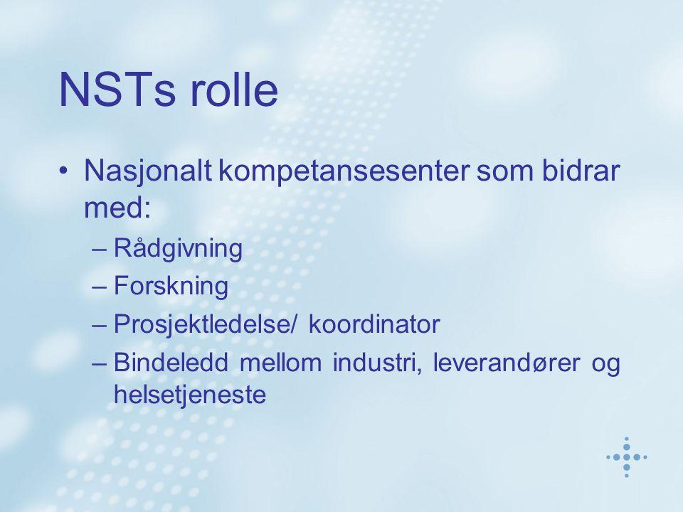 NSTs rolle Nasjonalt kompetansesenter som bidrar med: Rådgivning