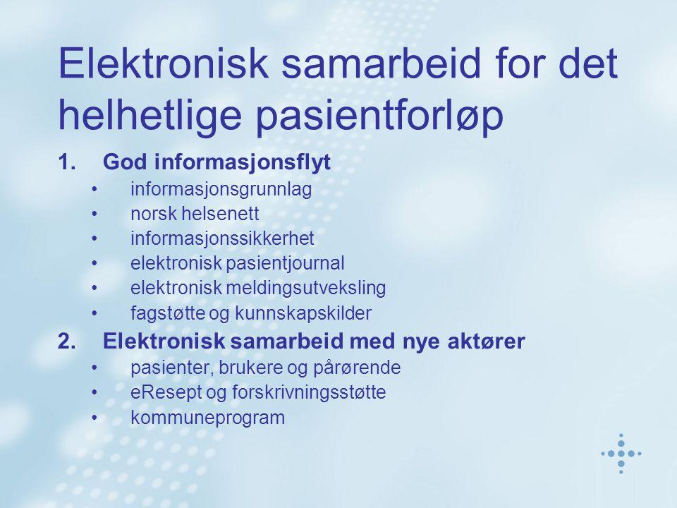 Elektronisk samarbeid for det helhetlige pasientforløp