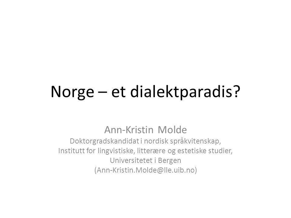 Norge – et dialektparadis