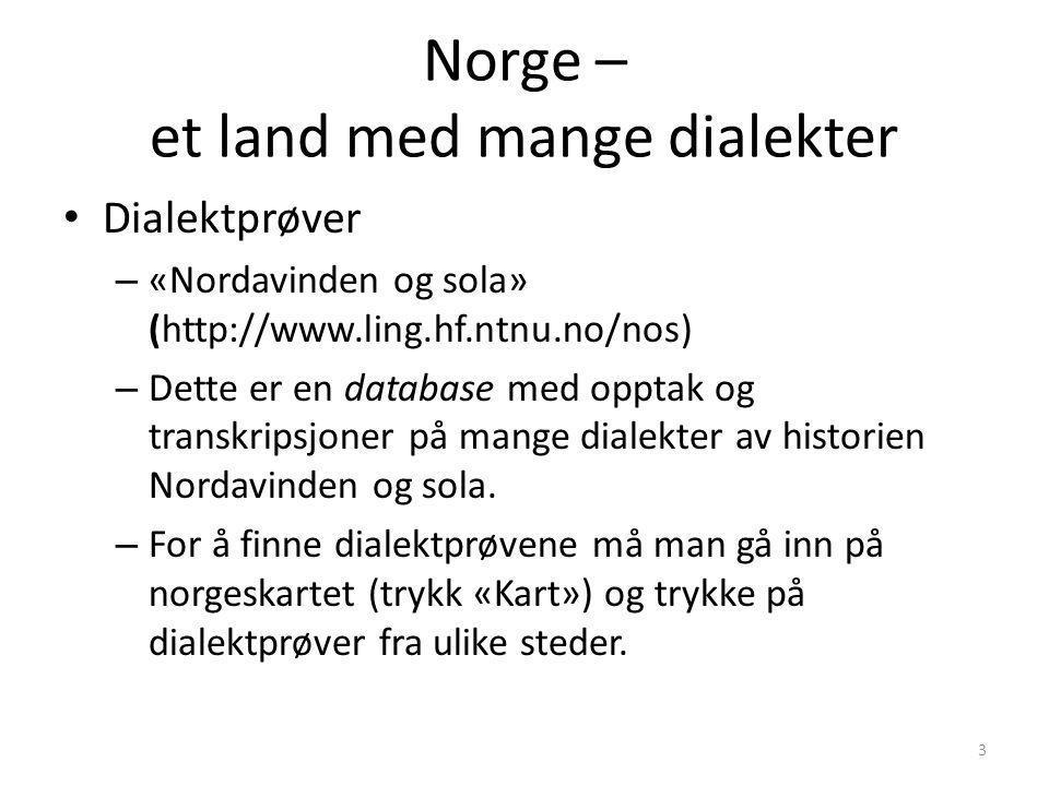 Norge – et land med mange dialekter