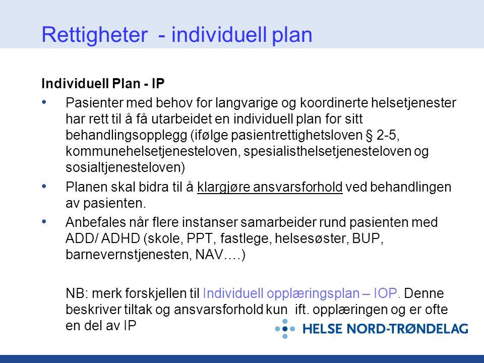 Rettigheter - individuell plan