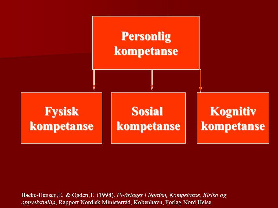 Personlig kompetanse Fysisk kompetanse Sosial kompetanse Kognitiv