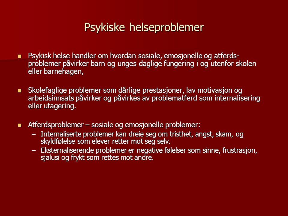 Psykiske helseproblemer
