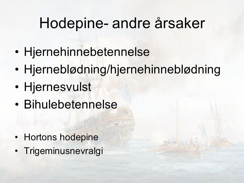 Hodepine- andre årsaker