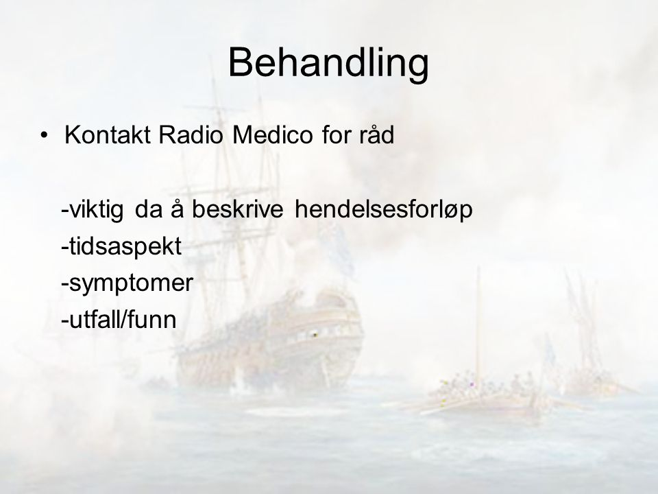 Behandling Kontakt Radio Medico for råd