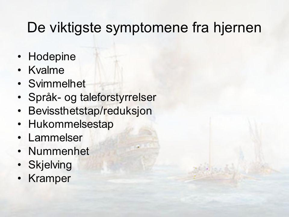 De viktigste symptomene fra hjernen