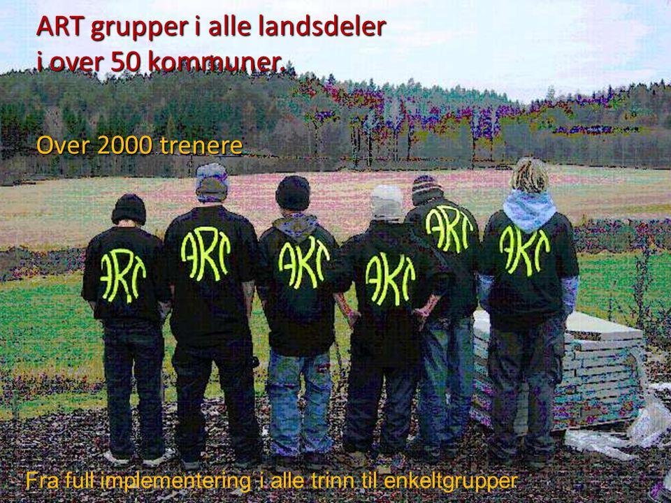 ART grupper i alle landsdeler i over 50 kommuner. Over 2000 trenere