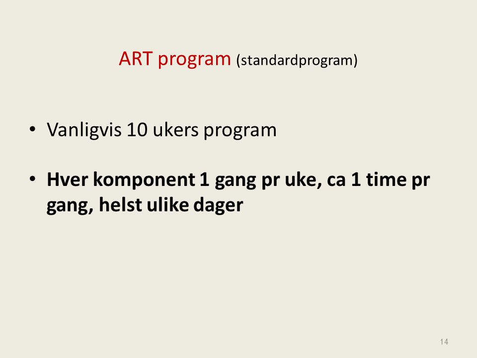 ART program (standardprogram)
