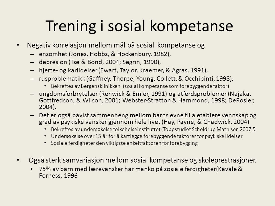 Trening i sosial kompetanse