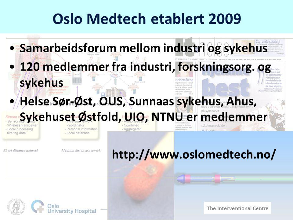 Oslo Medtech etablert 2009 Samarbeidsforum mellom industri og sykehus