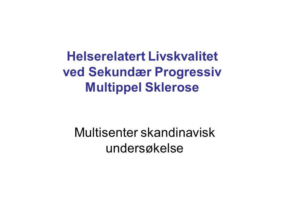 Helserelatert Livskvalitet ved Sekundær Progressiv Multippel Sklerose