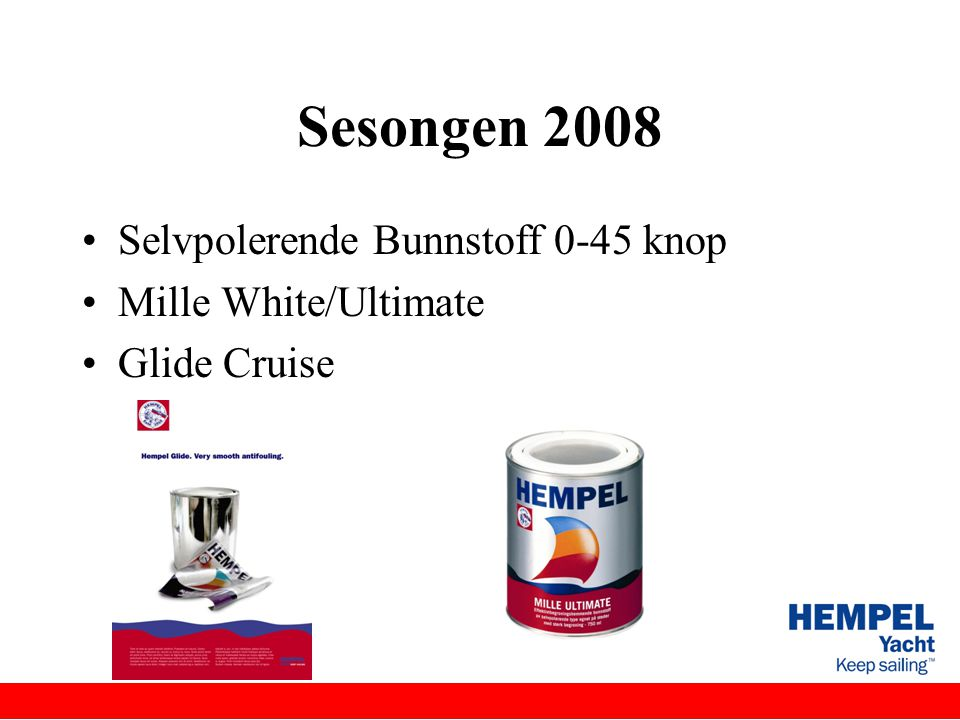 Sesongen 2008 Selvpolerende Bunnstoff 0-45 knop Mille White/Ultimate