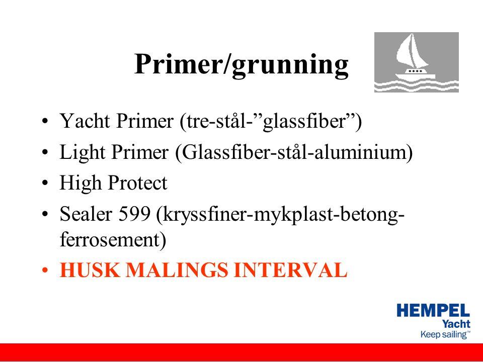 Primer/grunning Yacht Primer (tre-stål- glassfiber )
