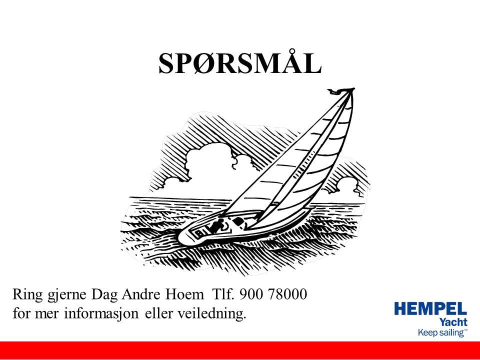 SPØRSMÅL Ring gjerne Dag Andre Hoem Tlf. 900 78000 for mer informasjon eller veiledning.
