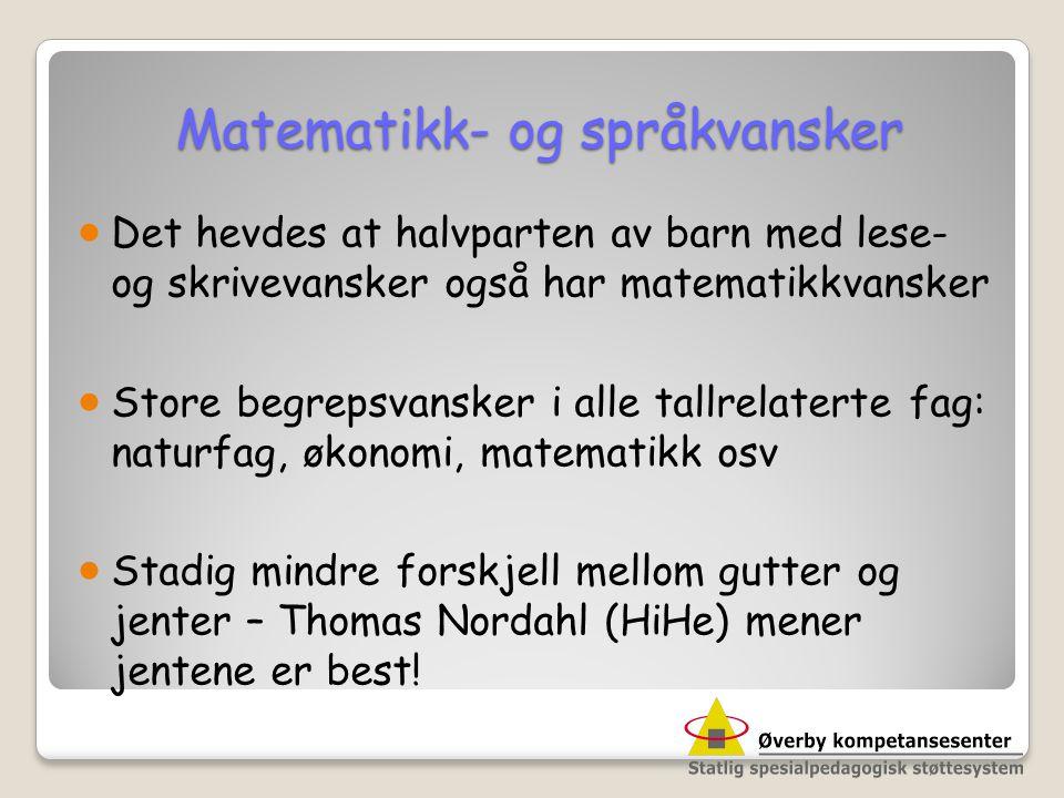 Matematikk- og språkvansker