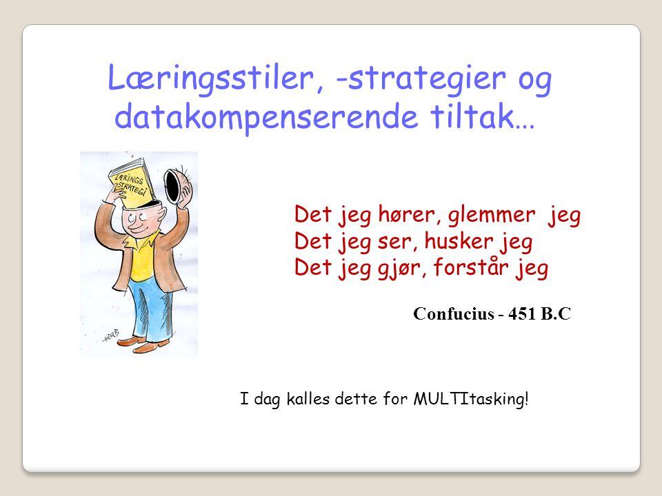 Læringsstiler, -strategier og datakompenserende tiltak…