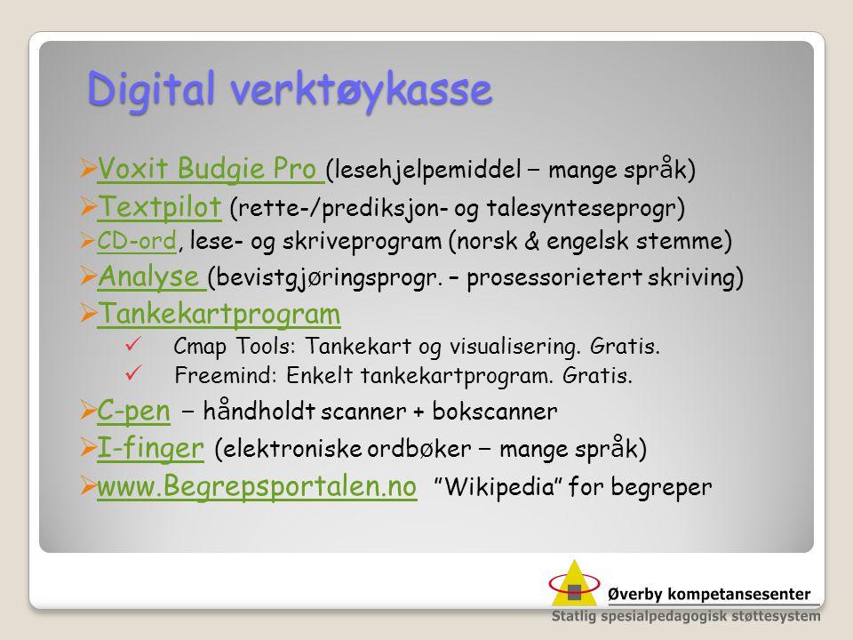 Digital verktøykasse Voxit Budgie Pro (lesehjelpemiddel – mange språk)