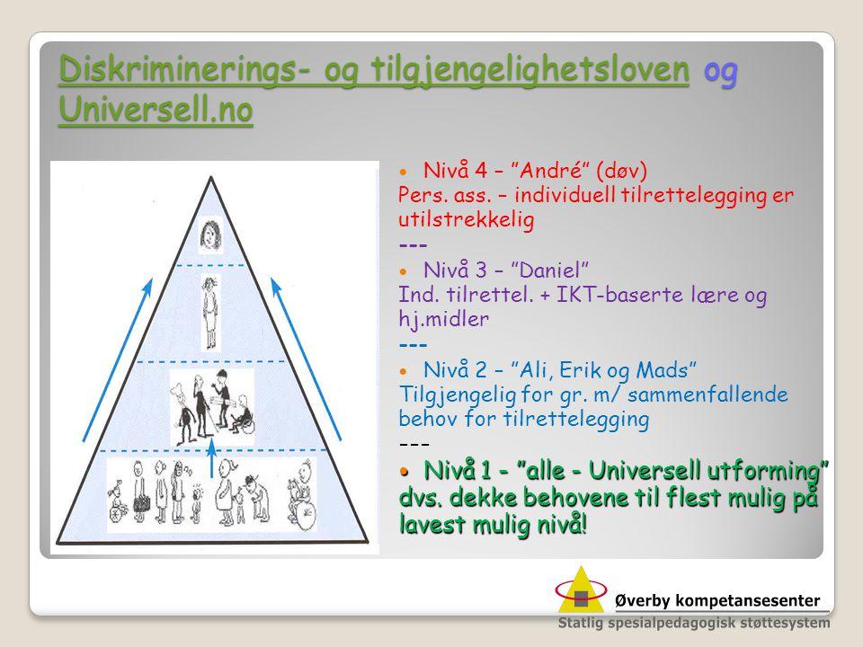Diskriminerings- og tilgjengelighetsloven og Universell.no