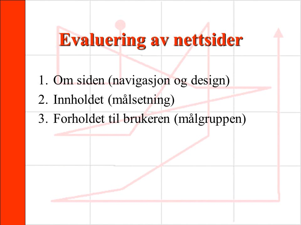 Evaluering av nettsider