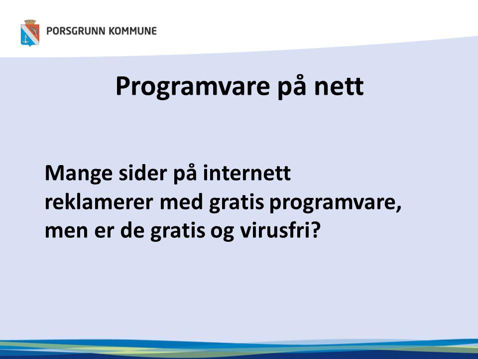 Programvare på nett Mange sider på internett