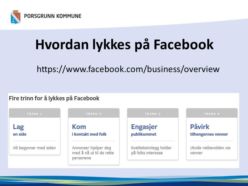 Hvordan lykkes på Facebook