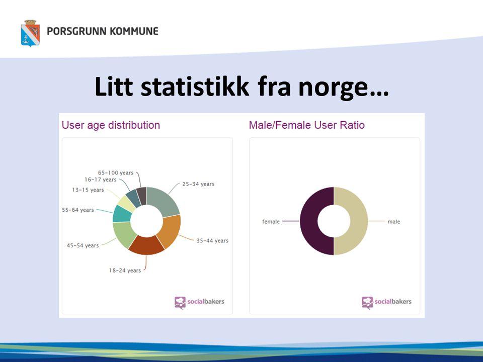 Litt statistikk fra norge…