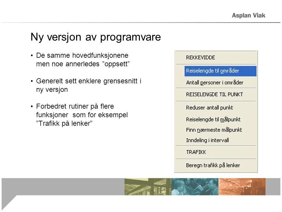 Ny versjon av programvare