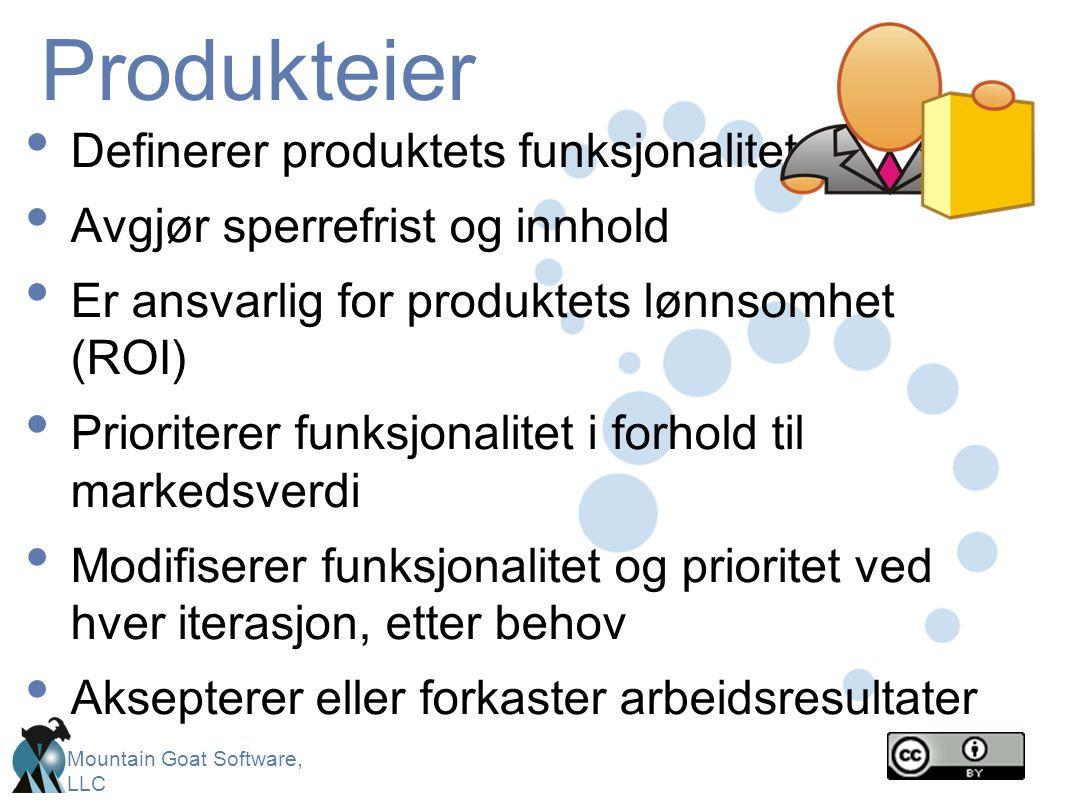 Produkteier Definerer produktets funksjonalitet
