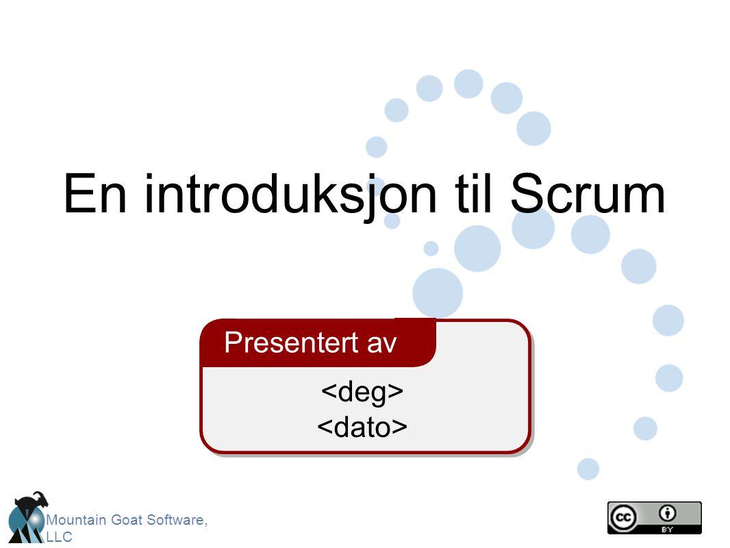 En introduksjon til Scrum