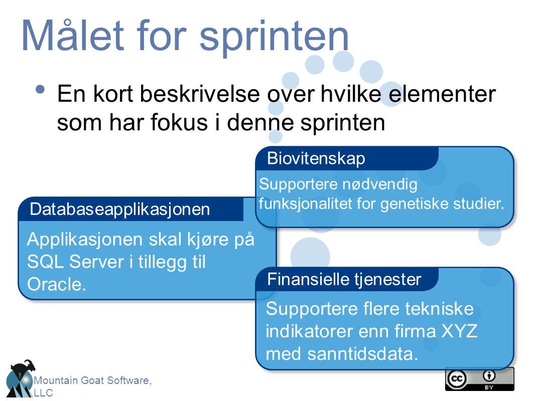 Målet for sprinten En kort beskrivelse over hvilke elementer som har fokus i denne sprinten. Biovitenskap.