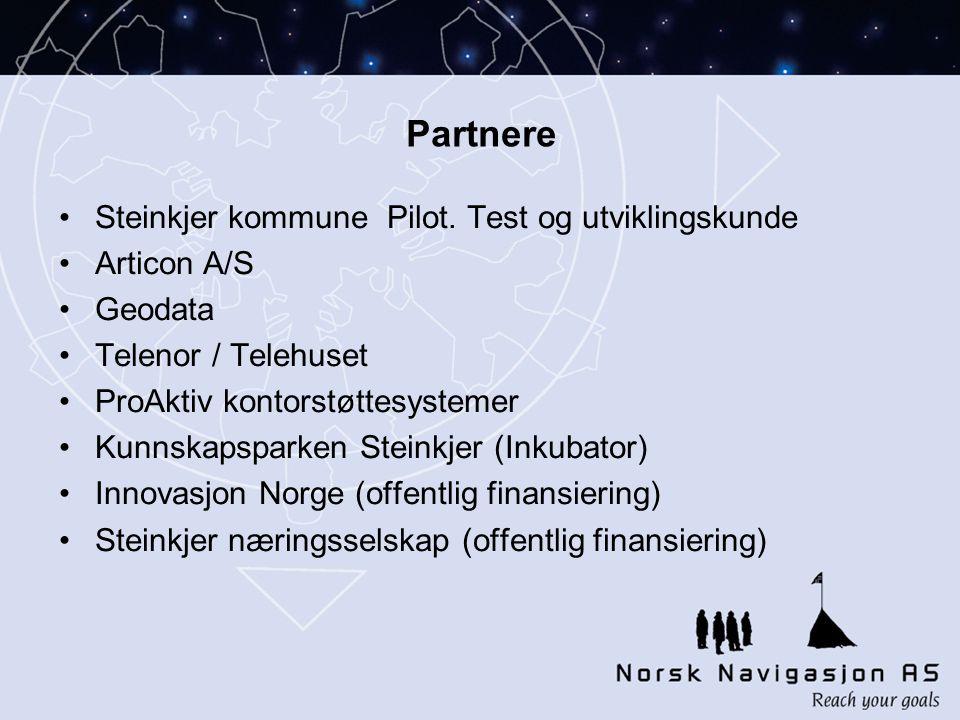 Partnere Steinkjer kommune Pilot. Test og utviklingskunde Articon A/S