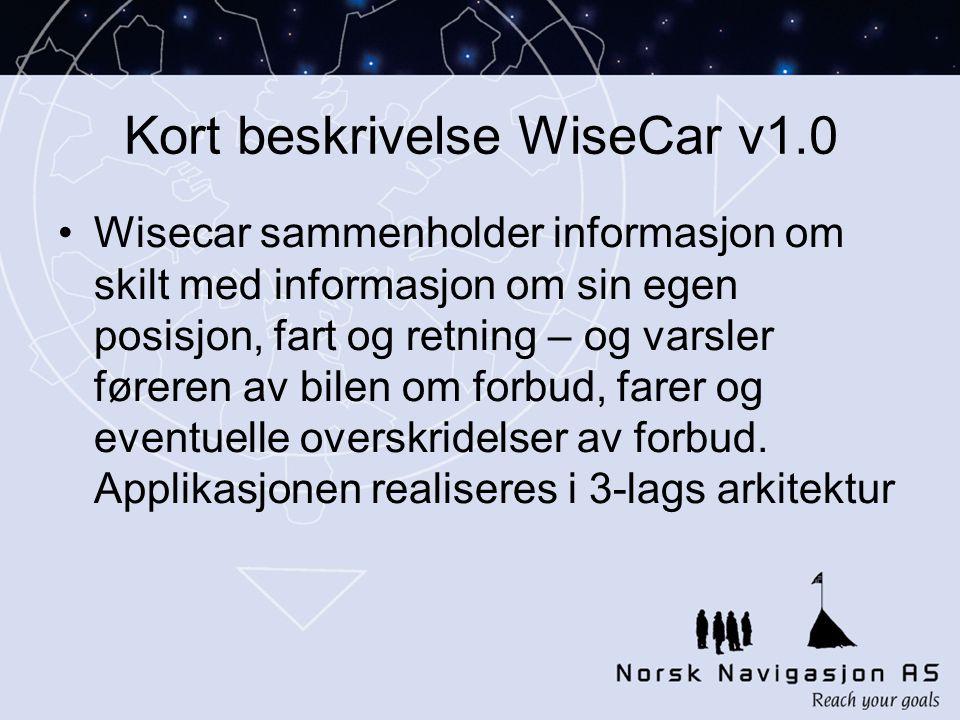 Kort beskrivelse WiseCar v1.0