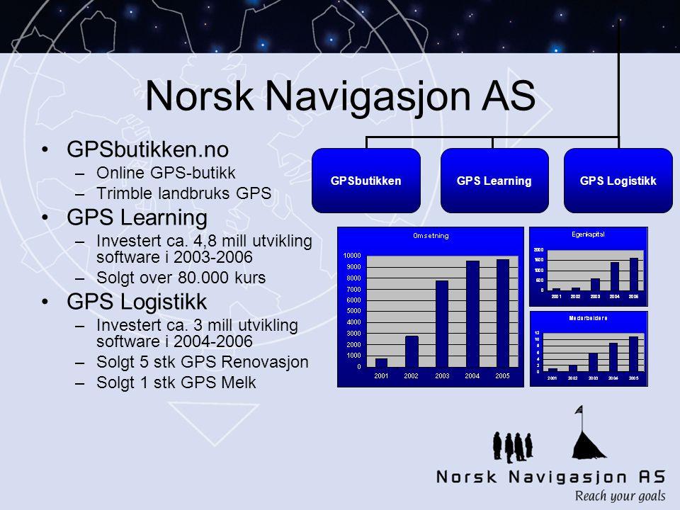 Norsk Navigasjon AS GPSbutikken.no GPS Learning GPS Logistikk