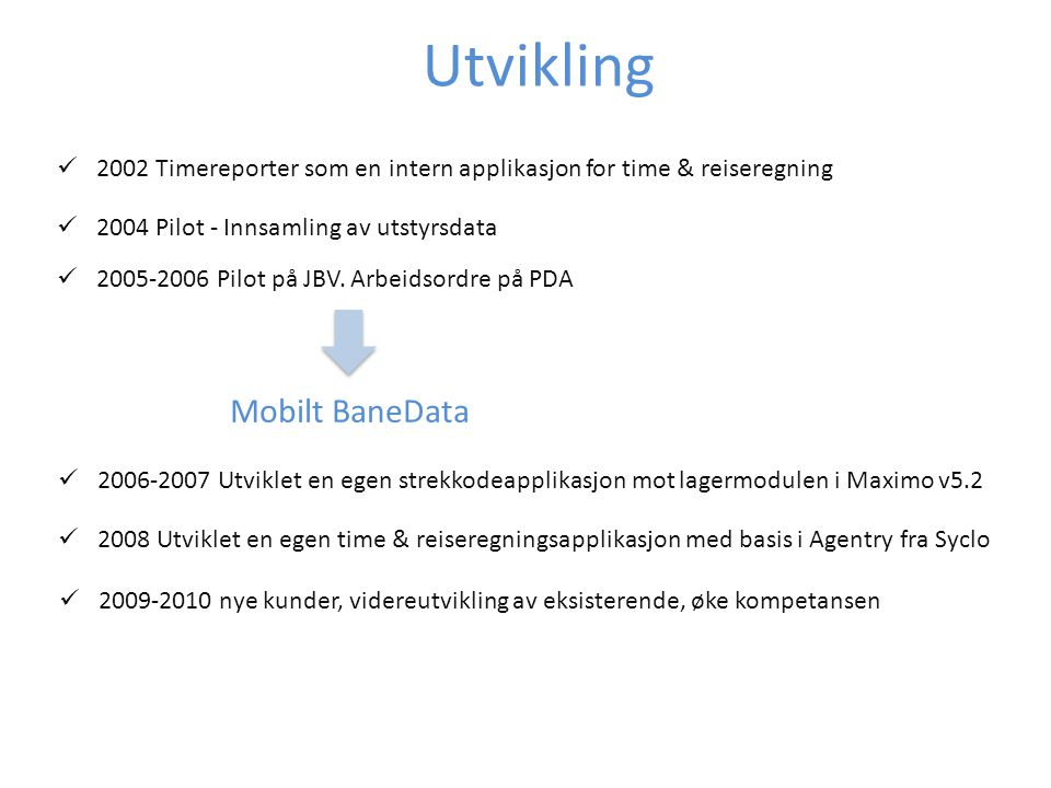 2002 Timereporter som en intern applikasjon for time & reiseregning