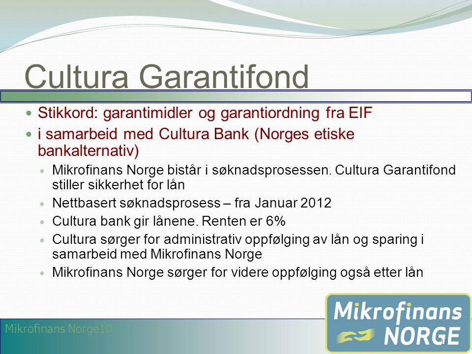 Cultura Garantifond Stikkord: garantimidler og garantiordning fra EIF