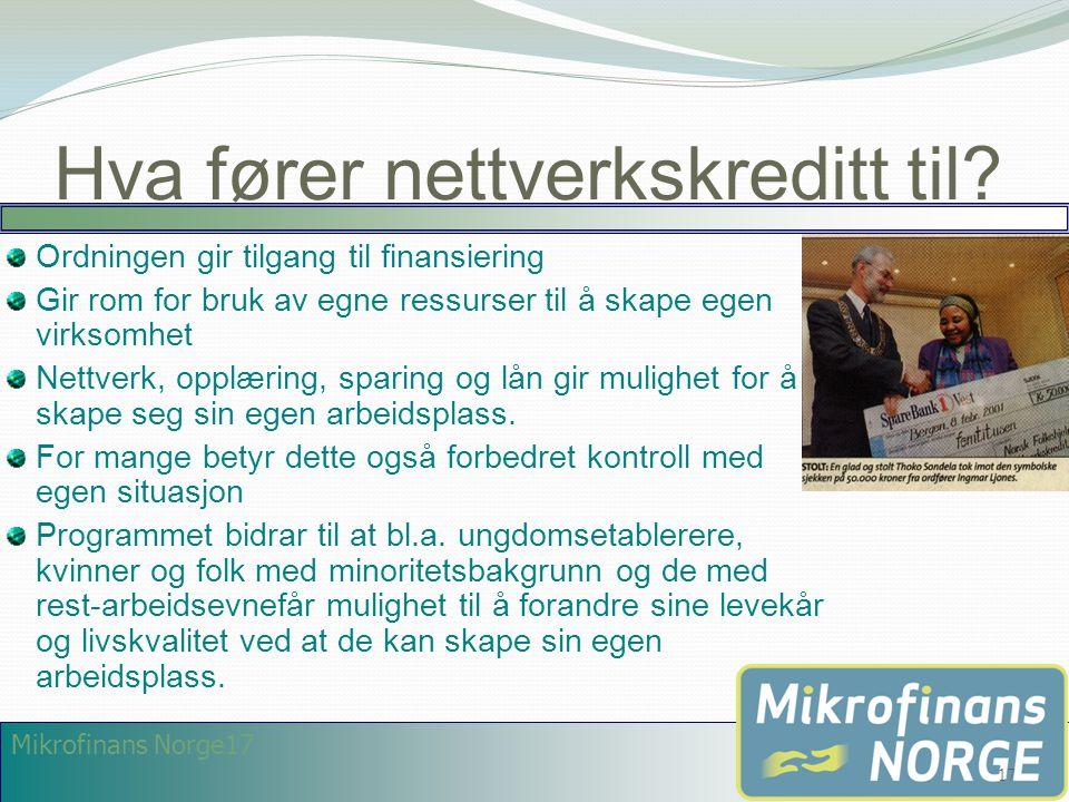 Hva fører nettverkskreditt til